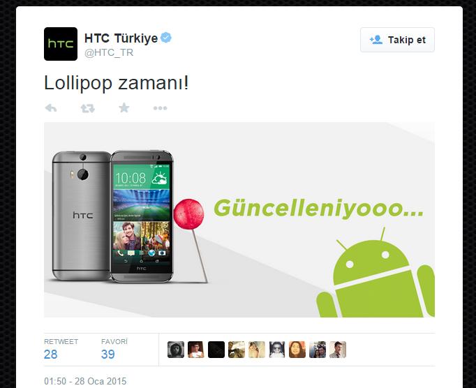 HTC One M8 Android 5.0.1 Lollipop Güncelleme