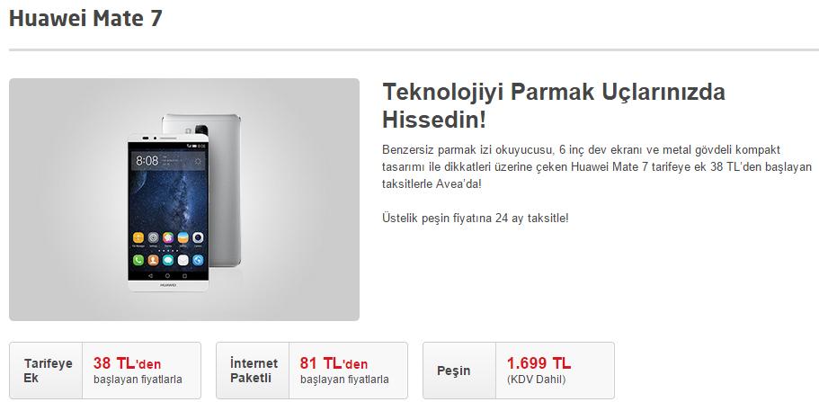 Huawei Mate 7 Türkiye Fiyatı