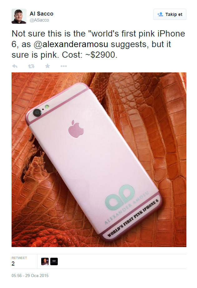 Pembe iPhone 6 Satışa Çıkıyor