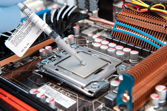 make sure the thermal compound used is compatible with your heat sink