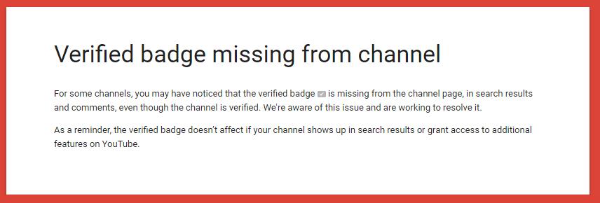 Youtube Bazı Kanalların Onay Rozetini Kaldırdı!